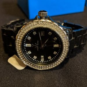 Toy Watch black with crystals
